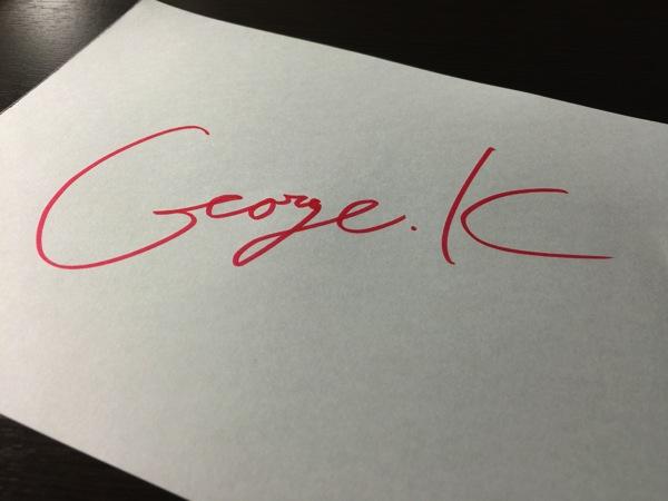 George.K サイン